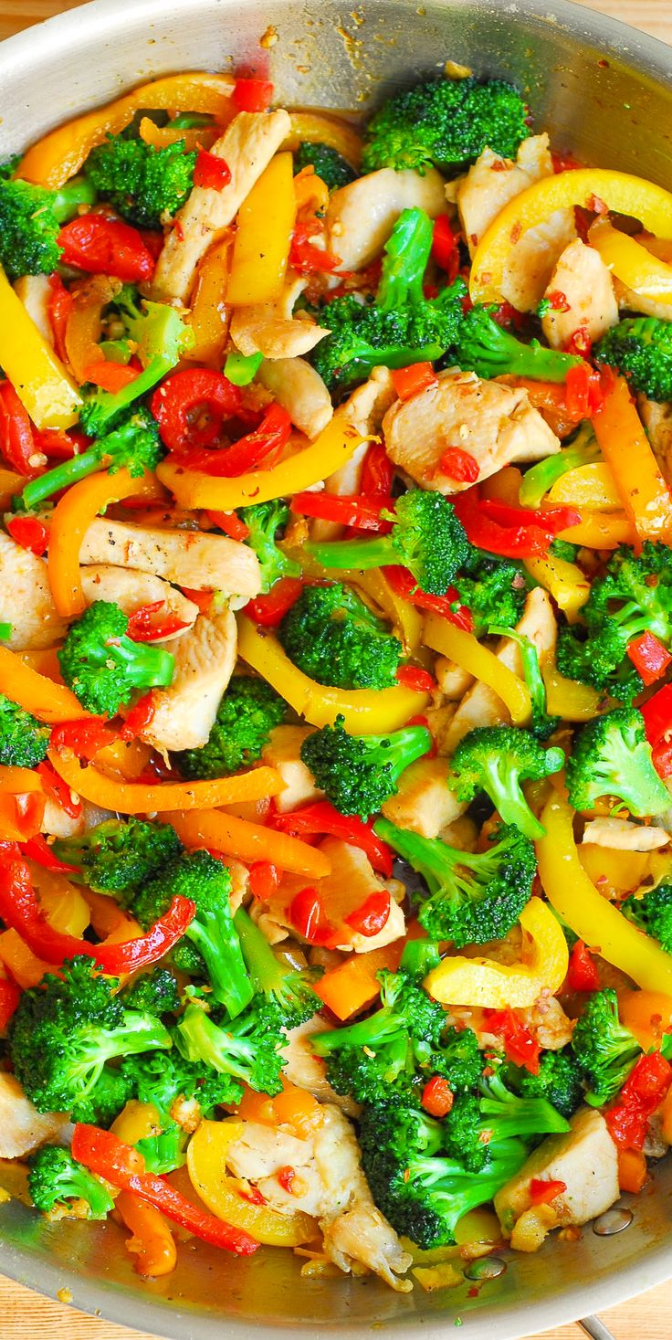 Healthy, 30-Minute Chicken and Vegetable Stir-Fry. Gluten free, no MSG.