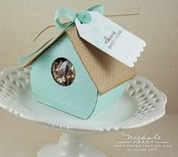 Pdf pattern for making this bird house for party, wedding favors...