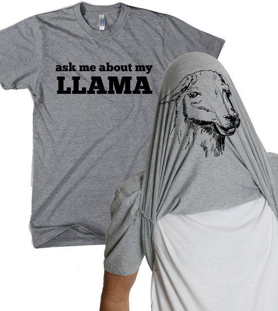 Ask me about my Llama shirt funny llama flip t shirt S-4XL on Etsy, $18.99