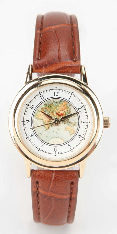 leather strap globe watch  http://rstyle.me/n/tk3sepdpe