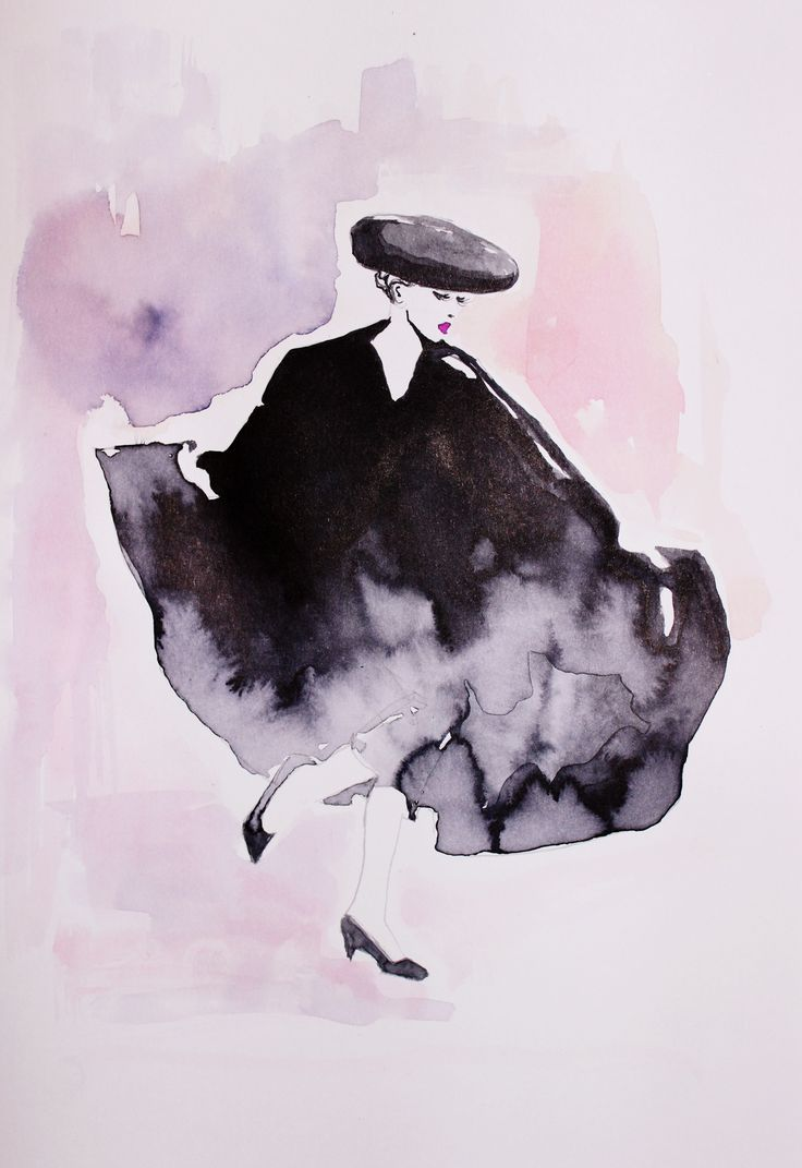 fashion illustration by Wioleta Bąbol