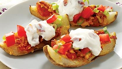 Potato skins, Homemade potato skins and Potatoes on Pinterest