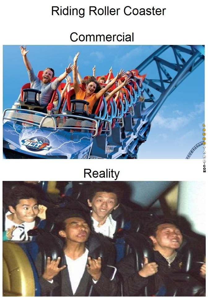 Roller Coaster reality vs expectation
