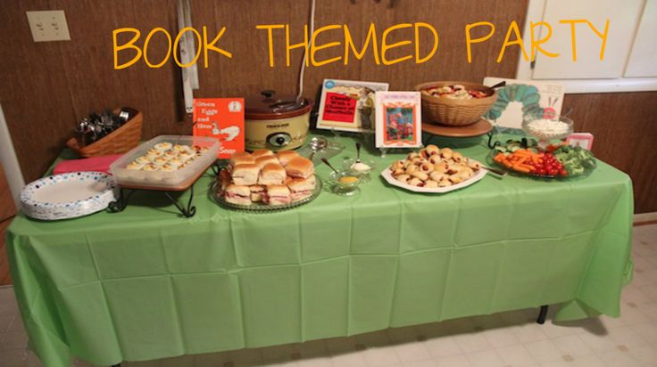 book themed party