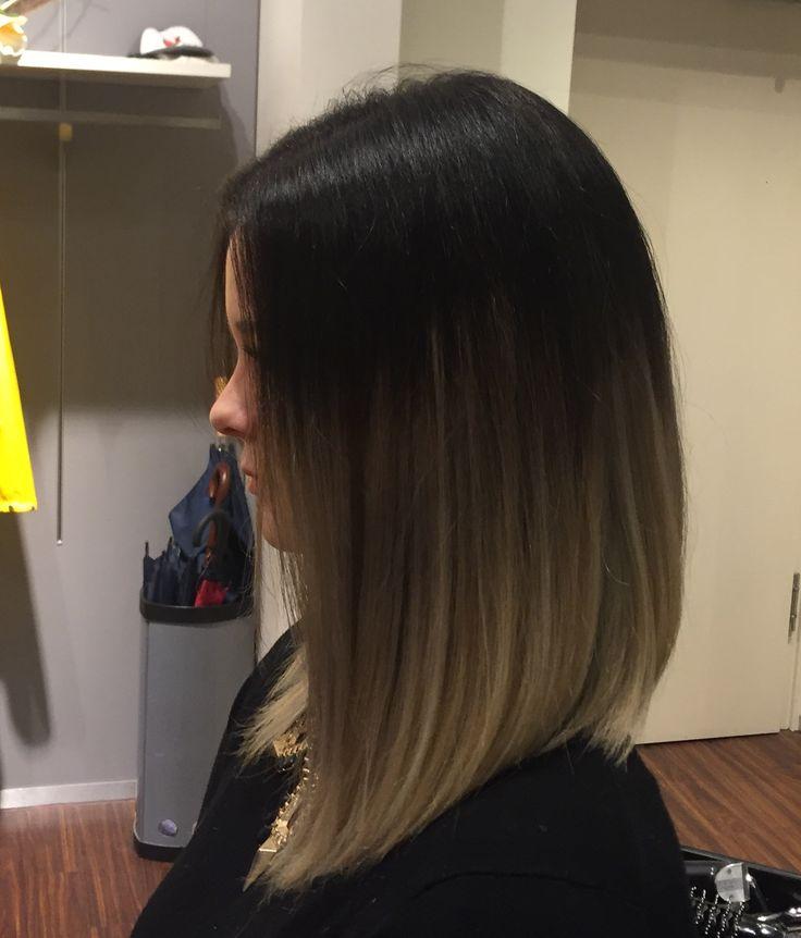 Resultado de imagen para ash brown ombre short hair