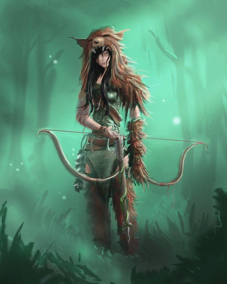 Female Pathfinder Half-Elf Ranger | Mujeres guerreras, (Female Warriors) imágenes de calidad (Quality Images)