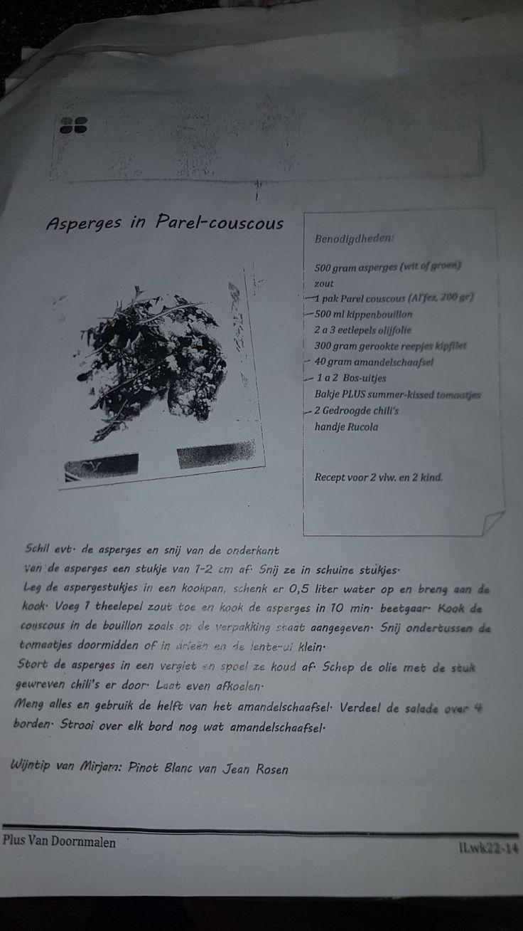 Asperges in parel-couscous