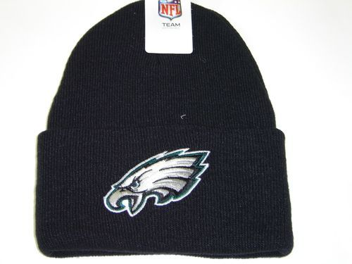 Authentic NFL Philadelphia Eagles Black Classic Cuffed Knit Winter Beanie Hat Cap