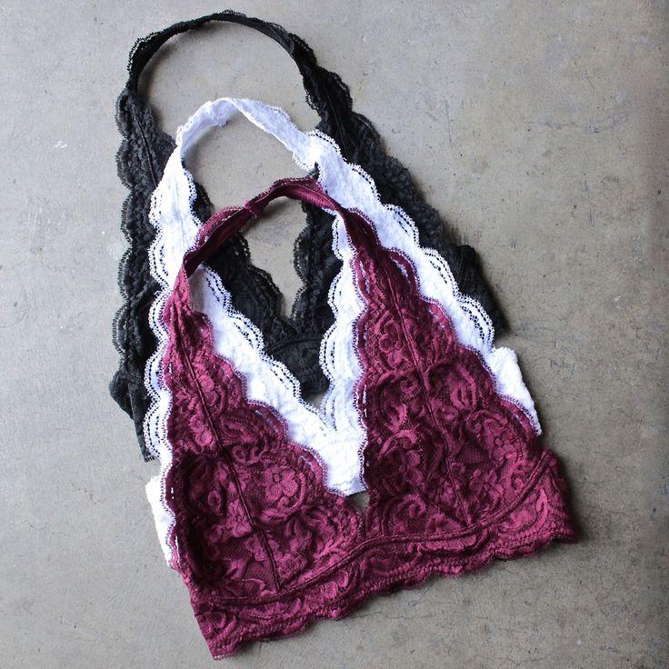 freedom halter lace bralette (more colors) - shophearts - 1