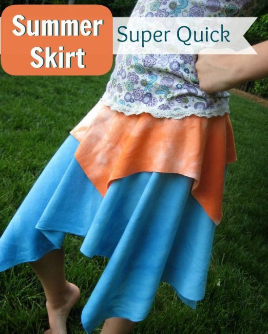 These colors are horrible, but the skirt is cute! Quick and East Summer Skirt | The Sewing Loft