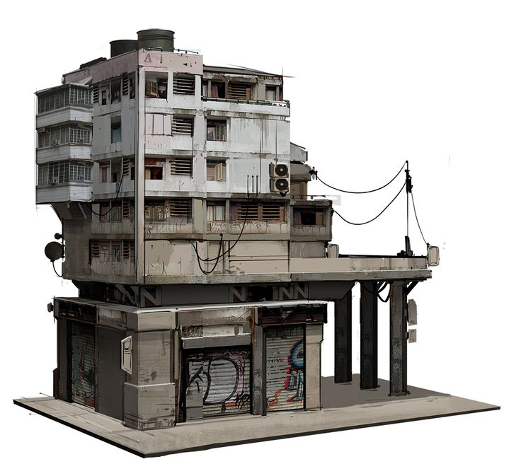 fightPUNCH: Kitbashed Buildings