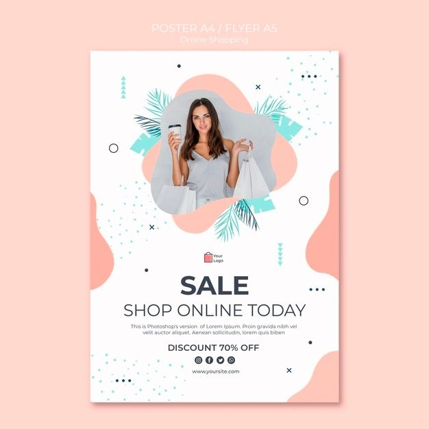download online shopping poster style