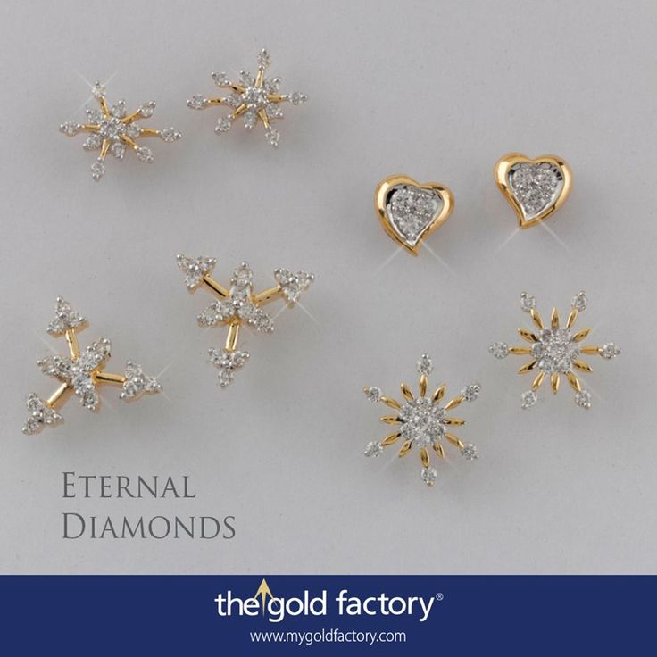 Snowflakes in naked settings and a pair of soft hearts. These eartops from our Eternal Diamonds collection ensure the fun in differently designed fine jewellery never dims. Just a day left for the NO MAKING CHARGES scheme to end. Hurry up !