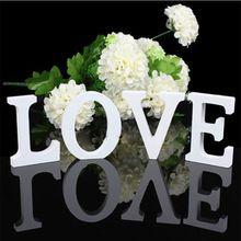 ''Coeur-shaped'' AMOUR'' Lettres En Bois De Mariage Top Table Signe Cadeau Décor Blanc Nouvelle Décoration De Bureau(China (Mainland))