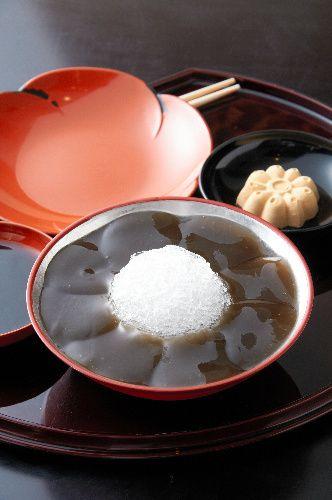 "a special summer sweets; Warabi mochi from ""Gion Tokuya"" of KYOTO"
