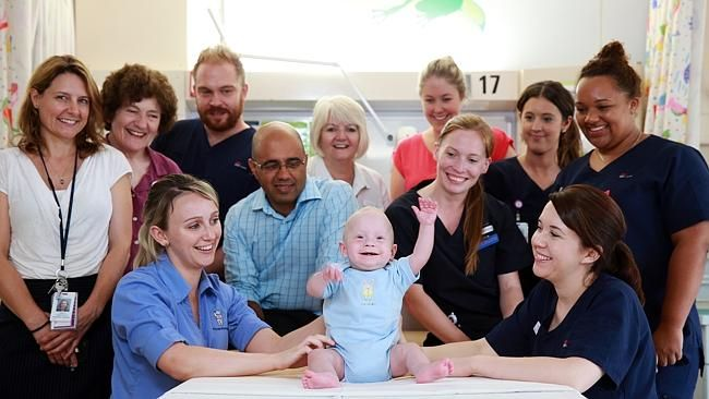 Brave bubba Daniel McDonald has spent his entire life of 14 months in hospital. #bravebaby #hospitalbaby