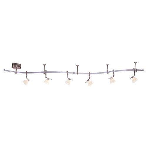19 best track lighting images on pinterest track lighting kits nickel finish rail light kit with six lights 10 feet long track lighting accessoriestrack aloadofball Image collections