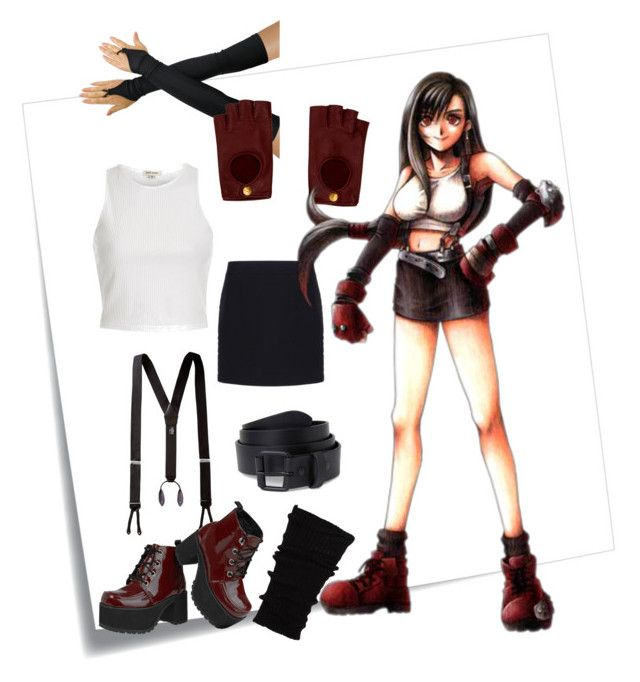 """Tifa Lockhart Cosplay Set"" by kasper0715 on Polyvore featuring Post-It, River Island, Balenciaga, Hermès and T.U.K."