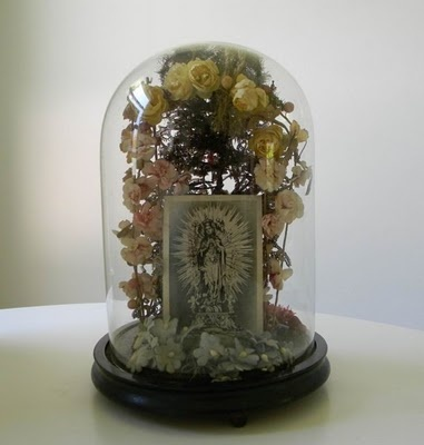 "Victorian Era Mourning Hair Art Tree... Many people living in the Victorian Era would save their cast off hair (from hair brushes, etc) and keep it in porcelain boxes on their vanities or dresses. These boxes had holes in the lids in which to enter the cast off hair... The hair would be saved so when they passed on their loved ones could memorialize them through ""hair art"" pieces. These 19th century pieces are now extremely valuable."