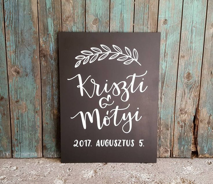 DEKORTÁBLA Krétatábla esküvőre kalligráfia