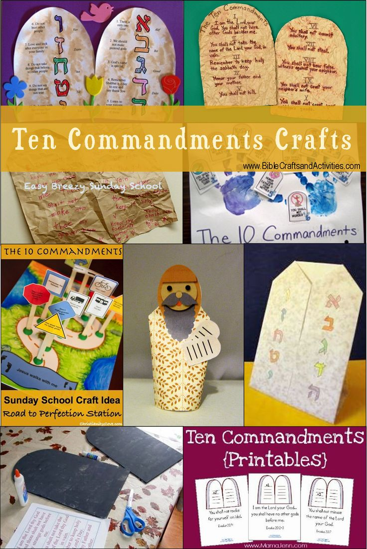 Sunday school crafts for preschool - Crafts Ten Commandments Bible Crafts And Activities
