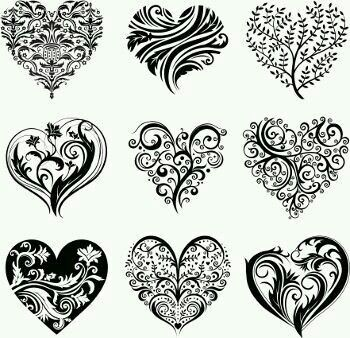 Heart design tattoo