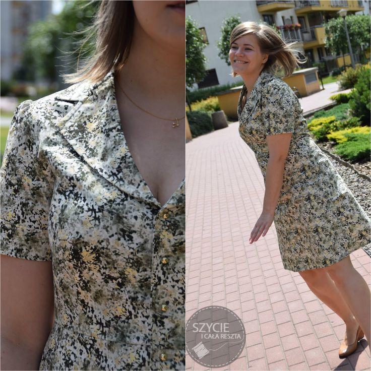 Olive shirt dress from burda 5/2010 model 137