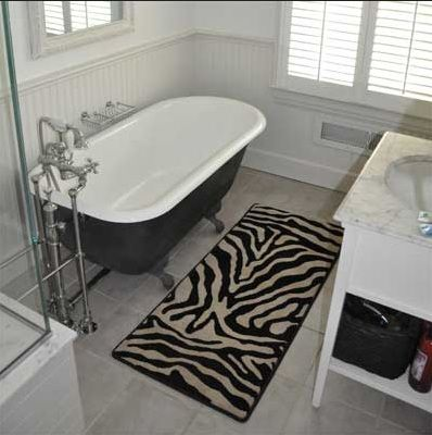 Best Zebra Print Bathrooms Images On Pinterest Zebra Print - Zebra bath mat for bathroom decorating ideas
