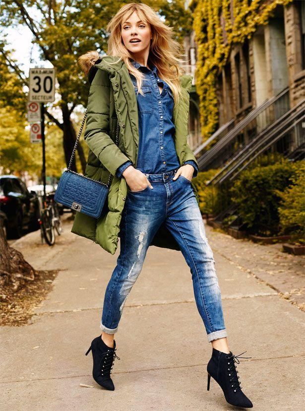 Autumn Collection Woman AW16 #khaki#jacket#blue#denim#black#boots