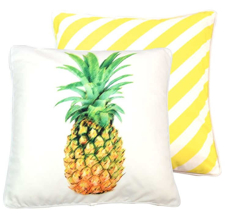 decor front street cropped indaba home pineapple l products canada pillow white james from image gold by