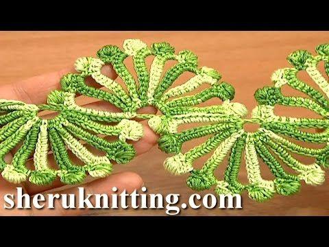 Double Sided Large Shells Crochet Lace Tutorial 10 Crochet Shell Motifs - YouTube