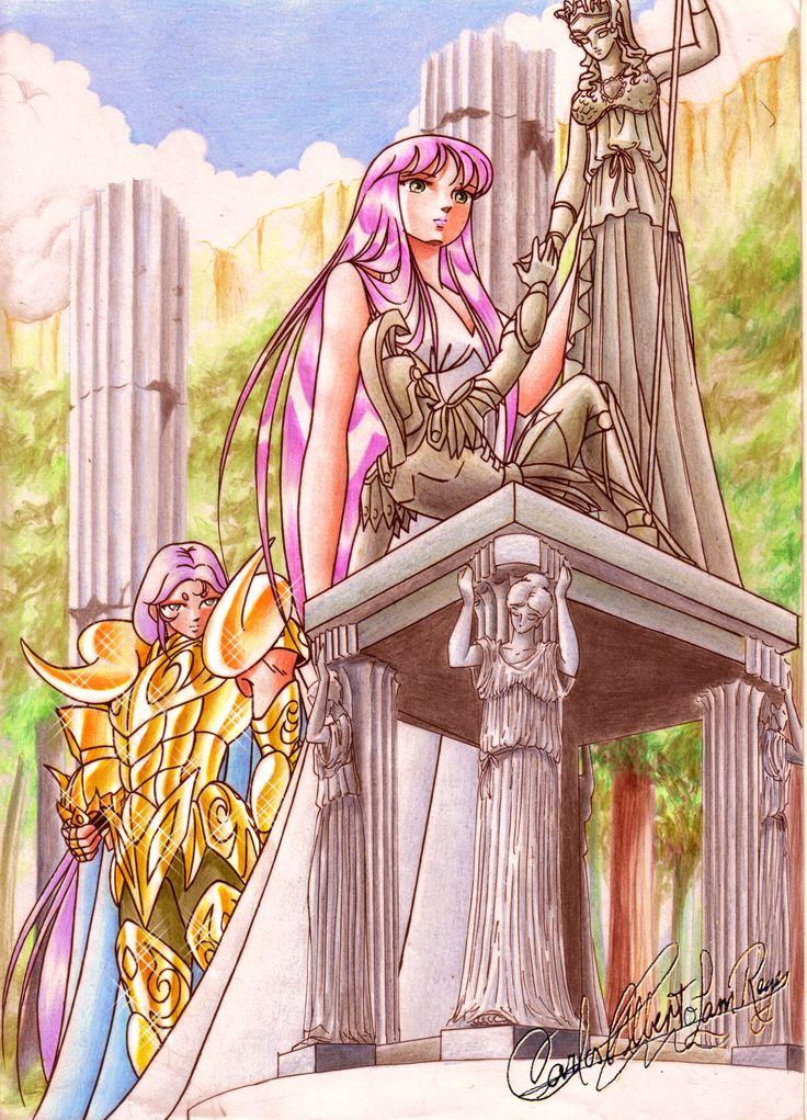 Mu de Aries y Saori 5.