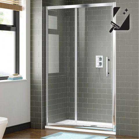 1100mm - 8mm - Premium EasyClean Sliding Shower Door