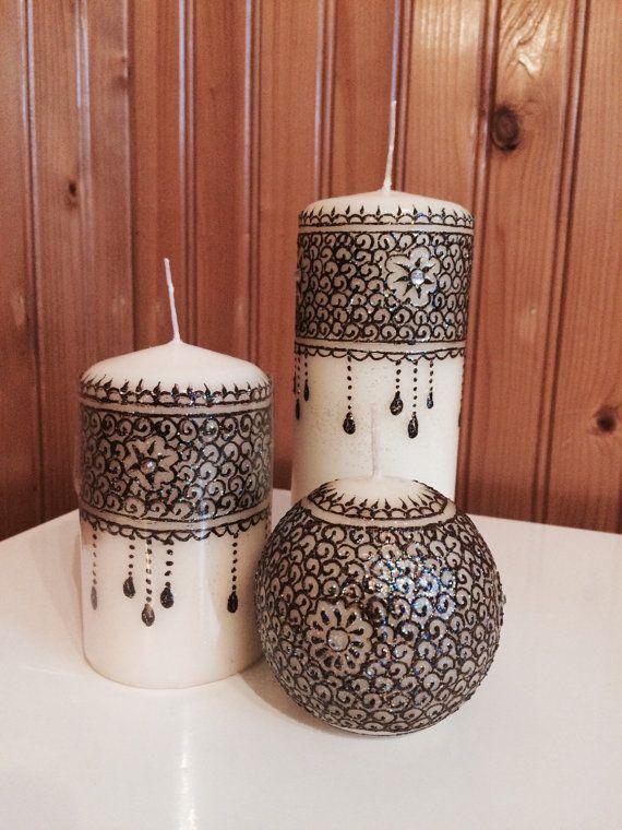 Handmade henna candles by hennamahal on Etsy