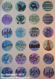 Stempelhûs: Selfmade Bible journaling stickers
