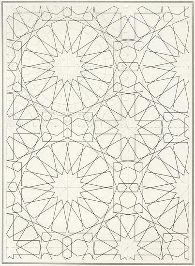 Pattern in Islamic Art - BOU 132 moorish arabesque moroccan muslim geometric tile design #islamicart