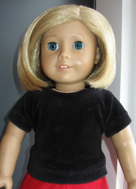 Tutorial (with pictures!) for American girl top, this can be made out of any type of fabric!