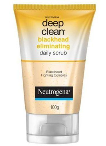 Neutrogena Deep Clean Blackhead Eliminating Microbeads Gently Exfoliate 100 G.- by Neutrogena. $15.50. Nutrogena backhead scrub, 100 g       Microbeads gently exfoliate, beta hydroxy cleans deep into pores for soft, smooth skin.        Neutrogena Deep Clean Gentle Scrub is the daily cleansing scrub with Beta Hydroxy proven        to dean deep down into your pores, yet is gentle enough to use every day.              Skin looks and feels soft and smooth after just...