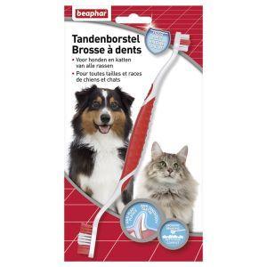 Beaphar Tandenborstel  Description: Beaphar Tandenborstel De Beaphar Tandenborstel biedt in combinatie met Beaphar Tandpasta totale bescherming voor het gebit van uw hond of kat. Dagelijks poetsen gaat tandplak en de vorming van tandsteen tegen en zorgt daarnaast voor een frisse adem. De dubbele tandenborstel is geschikt voor alle honden en katten. Het rubberen handvat zorgt voor extra grip. De borstelharen zijn zacht en flexibel om het tandvlees te beschermen ze zijn verschillend van lengte…