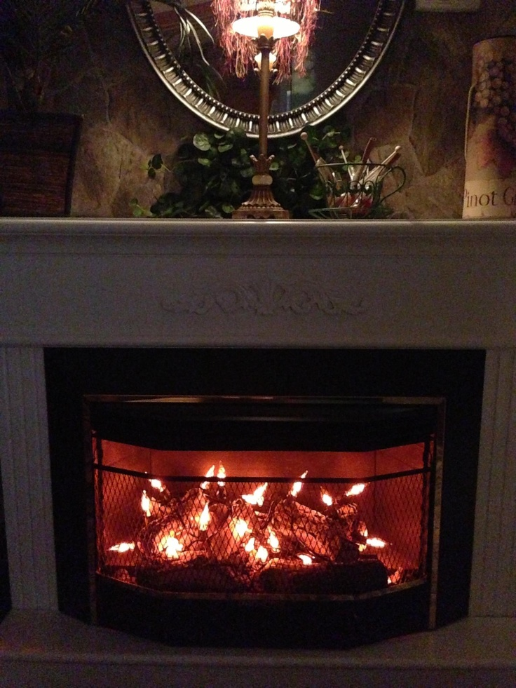 fireplace firewood flicker flame christmas - 736×981