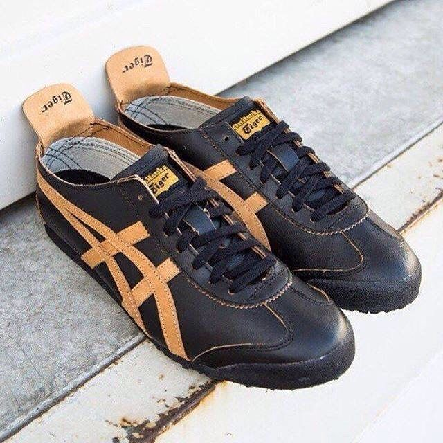 f8b0754389709 Onitsuka Tiger Mexico 66 Leather  Black Gold