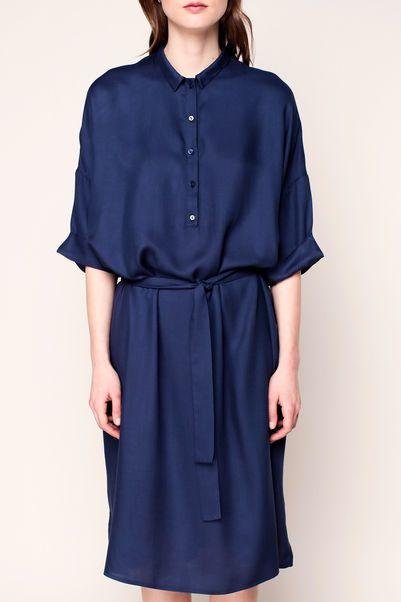 Vestido camisa - lix119 - Azul / Marina de guerra 2