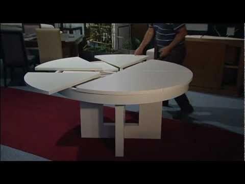 Mesa redonda extensible. Muebles Artenogal Sonseca (Toledo) - YouTube