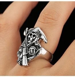 Sons Anarchy Punk Men Ring