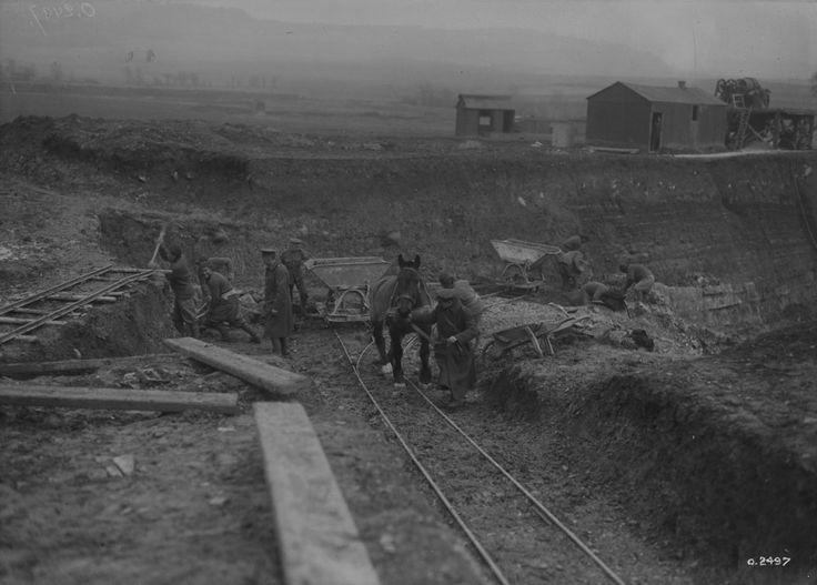 Circa 1880 (Date Unknown). British Columbia, Canada. Appoximately 10 Chinese workers and a horse working on building the Candian Pacific Railway. To help speed up the building of the Canadian Pacific Railway, Chinese workers were imported to work in the railroad, doing the more dangerous work such as blasting rocks with explosives. They were also paid a lot less than the white workers. -Richard
