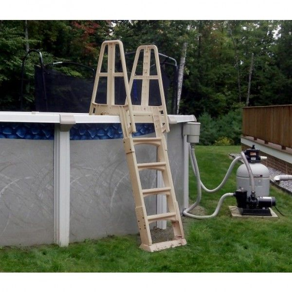 blue wave premium a frame above ground pool ladder taupe