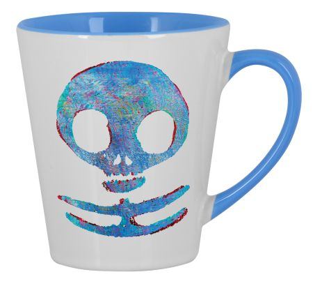 Winter War Skull Small Latte Design by Waukorbowy | Teequilla | Teequilla