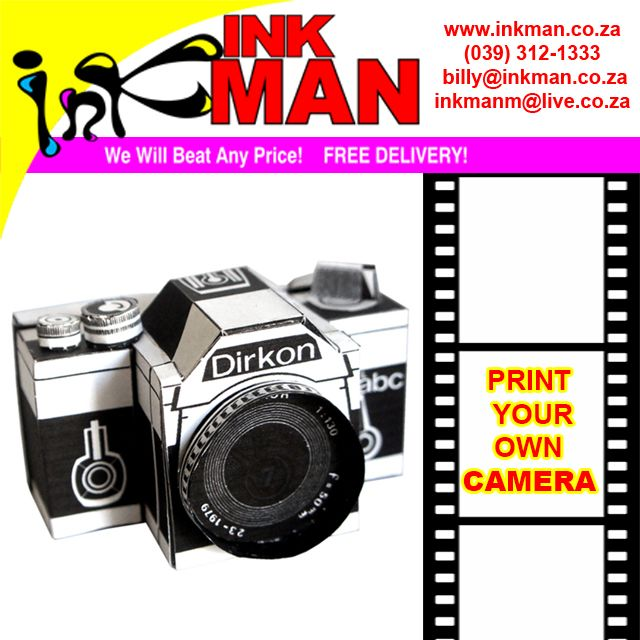 #Learn how to Create a #Camera Out of #Paper here! #INKman #Margate #SouthAfrica #DIY http://bit.ly/1OQhZ6B