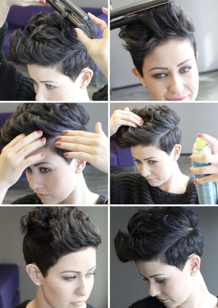 krølle kort hår. short hairdo
