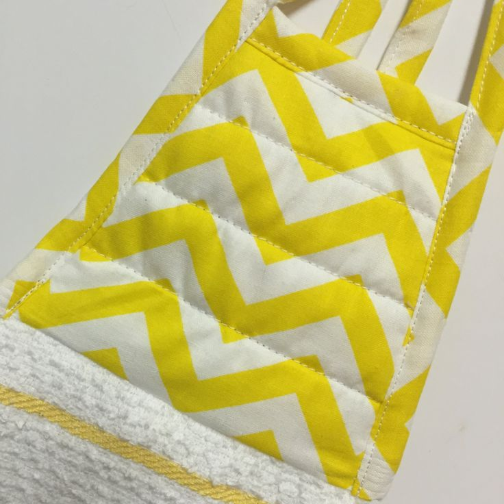 Yellow Chevron Towel,Yellow Chevron dish Towel,Chevron Kitchen Towel,Yellow Stripe Towel,Yellow Tea Towel,Yellow/White,Housewarming Gift by thestuffedcat on Etsy